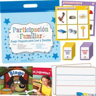 Participación Familiar: Kindergarten Juego-Paquete Para Leer Y Escribir (Family Engagement: Kindergarten Read, Write, And Play Pack)