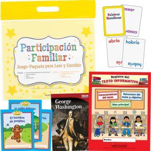 Participación Familiar: Grado 2 Juego-Paquete Para Leer Y Escribir (Family Engagement: Grade 2 Read, Write, And Play Pack)