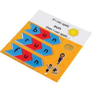 'If I Can Spell' CVC Word Family Puzzles - 20 cards, 77 tiles