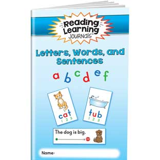 Reading Learning Journals™ - Letters, Words, And Sentences - 24 journals