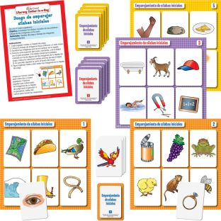 Centro de aprendizaje™: Emparejamiento de sílabas iniciales (Spanish Beginning Syllable Match) - 1 literacy center