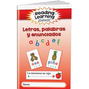 Reading Learning Journals™ - Letras, palabras y enunciados (Spanish Letters, Words, And Sentences) - 24 journals