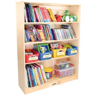 4-Shelf Adjustable Bookcase - 48""