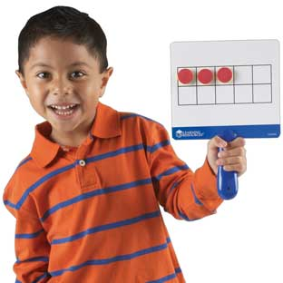 Magnetic Ten Frame Boards - 4 boards, 100 magnets