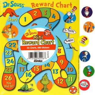 Dr. Seuss™ Mini Reward Chart Game - 36 reward chart game, 880 stickers