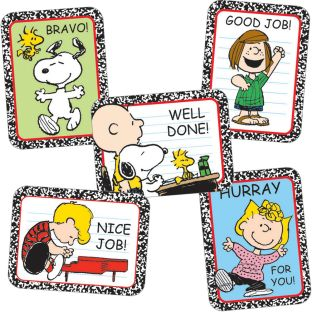 Peanuts® Motivational Stickers - 36 stickers