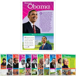 Notable African Americans Bulletin Board - 12 posters