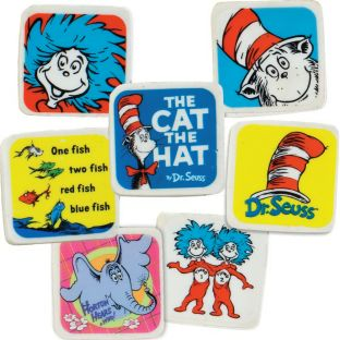 Dr. Seuss™ Character Erasers - 60 erasers
