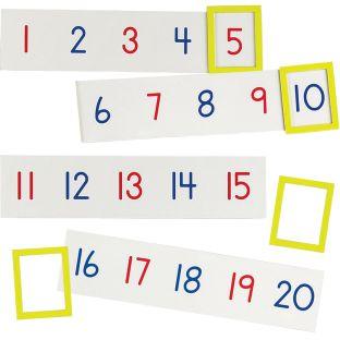 1-100 Magnetic Number Line - 20 strips, 4 frames