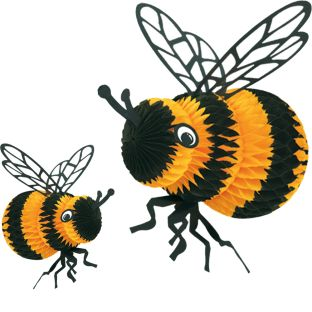 Tissue Paper Bee - Set Of 2