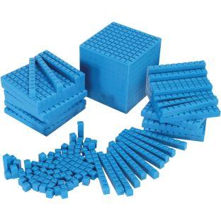 Interlocking Base Ten Starter Set - Blue