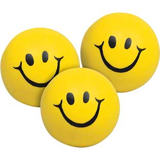 Squeeze Smiley Face Balls - 12 balls