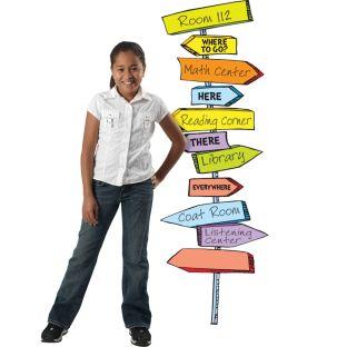Dr. Seuss™ Blank Directional Signs Bulletin Board Set