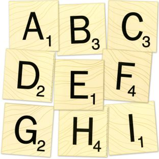 Scrabble™ Letters Deco Letters - 96 pieces