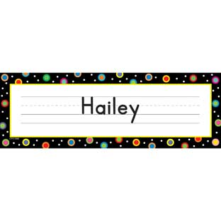 Dots On Black Name Plates