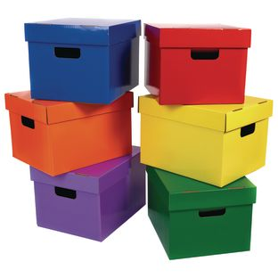 Classroom Keepers Storage Boxes- Assortment - 6-Pack