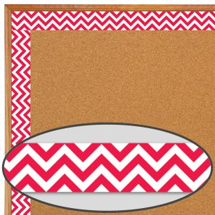 Poppy Red Chevron Borders - 1 border trim