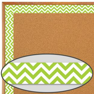 Lime Green Chevron Borders - 1 border trim