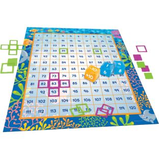Make A Splash™ 120 Mat Floor Game - 120-grid floor mat set