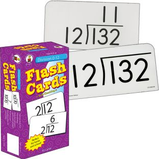 Division 0-12 Flash Cards - 94 flash cards