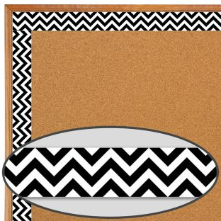 Black Chevron Border Trim