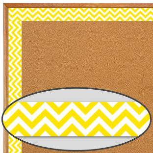Yellow Chevron Border Trim