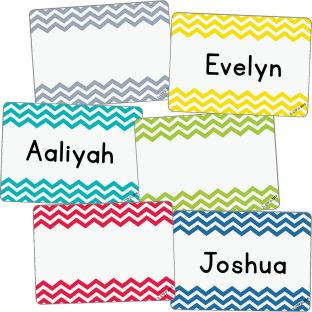 Chevron Labels/Name Tags