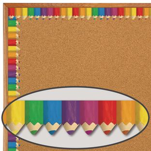 Jumbo Colored Pencils Border - 1 border