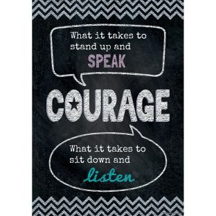 Inspire U Poster - Courage - 1 poster