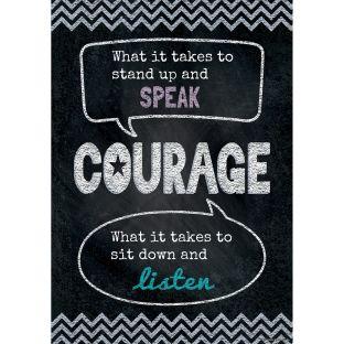 Inspire U Poster - Courage
