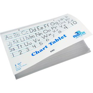 "24"" X 16"" Chart Tablet - Ruled 1½"", 25 Sheets"