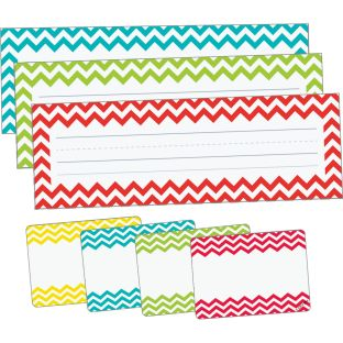 Chevron Assorted Color Nameplate And Name Tag Set