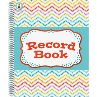 Chevron Multi-Color Record Book - 1 book