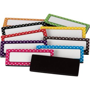 Polka Dots Magnetic Labels - 30 labels