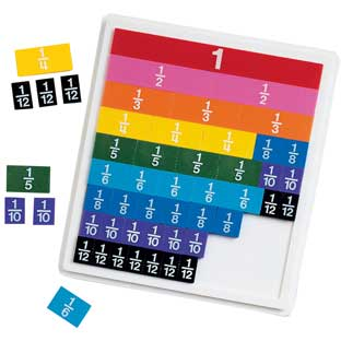 Rainbow Fraction Tiles Activity Set