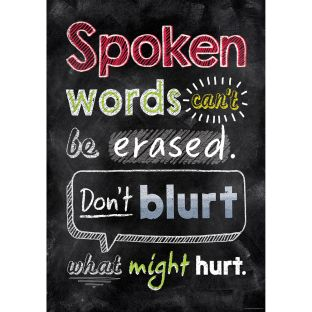 Inspire U Posters - Spoken Words Can't Be Erased... - 1 poster