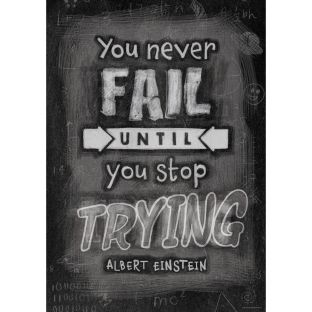 Inspire U Posters - You Never Fail Until...