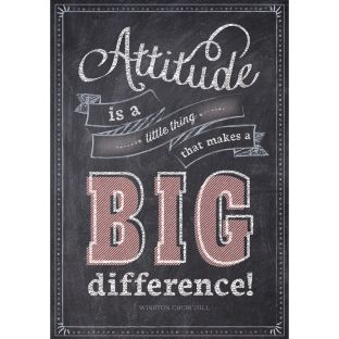 Inspire U Posters - Attitude Is A Little Thing...