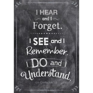 Inspire U Posters - I Hear And I Forget...
