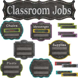 Chalk It Up! Classroom Jobs Mini-Bulletin Board Set