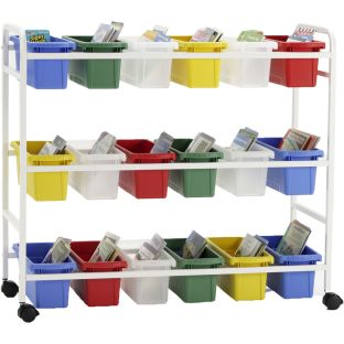 Leveled Reading Book Browser 18 - 1 cart, 18 tubs