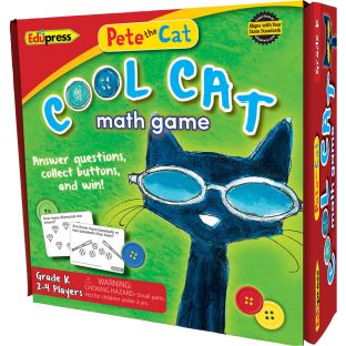 Pete The Cat® Cool Cat Math Game - Grade Kindergarten - 1 game