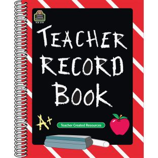 Chalkboard Teacher Record Book - 1 book