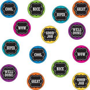 Chalkboard Brights Mini Reward Stickers