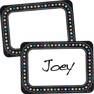 Chalkboard Brights Name Tags/Labels - 36 labels