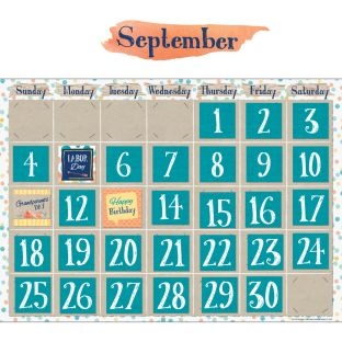 Confetti Splash Calendar Bulletin Board Set