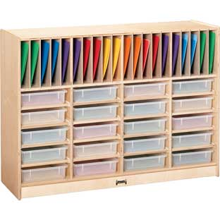Jonti-Craft® Homework Station Without Trays - 1 storage unit