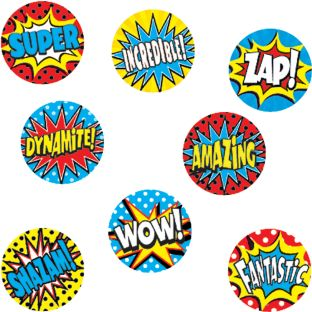 Superhero Mini Stickers Valu-Pak