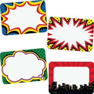 Superhero Name Tags/Labels - 36 name tags/labels