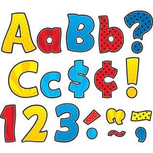 Superhero Funtastic Letters